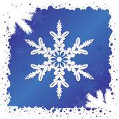 Snöflinga bakgrund — Stockvektor