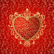 Stock Vector: Heart ornament background