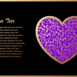 Royalty-Free Stock Vector Image: Romantic Card With Violet Heart