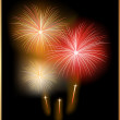 Holiday Card with Firework — Image vectorielle