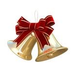 Christmas Golden Bells — Stock Photo