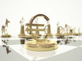 Euro Symbol. Chess. Depth of Field — Stock Photo