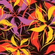 Seamless floral pattern - Imagens vectoriais em stock