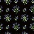 Seamless flower wallpaper - Stok Vektör