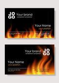 огонь визитные карточки — Cтоковый вектор