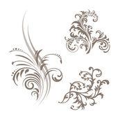 Floral business cards — Stockvektor