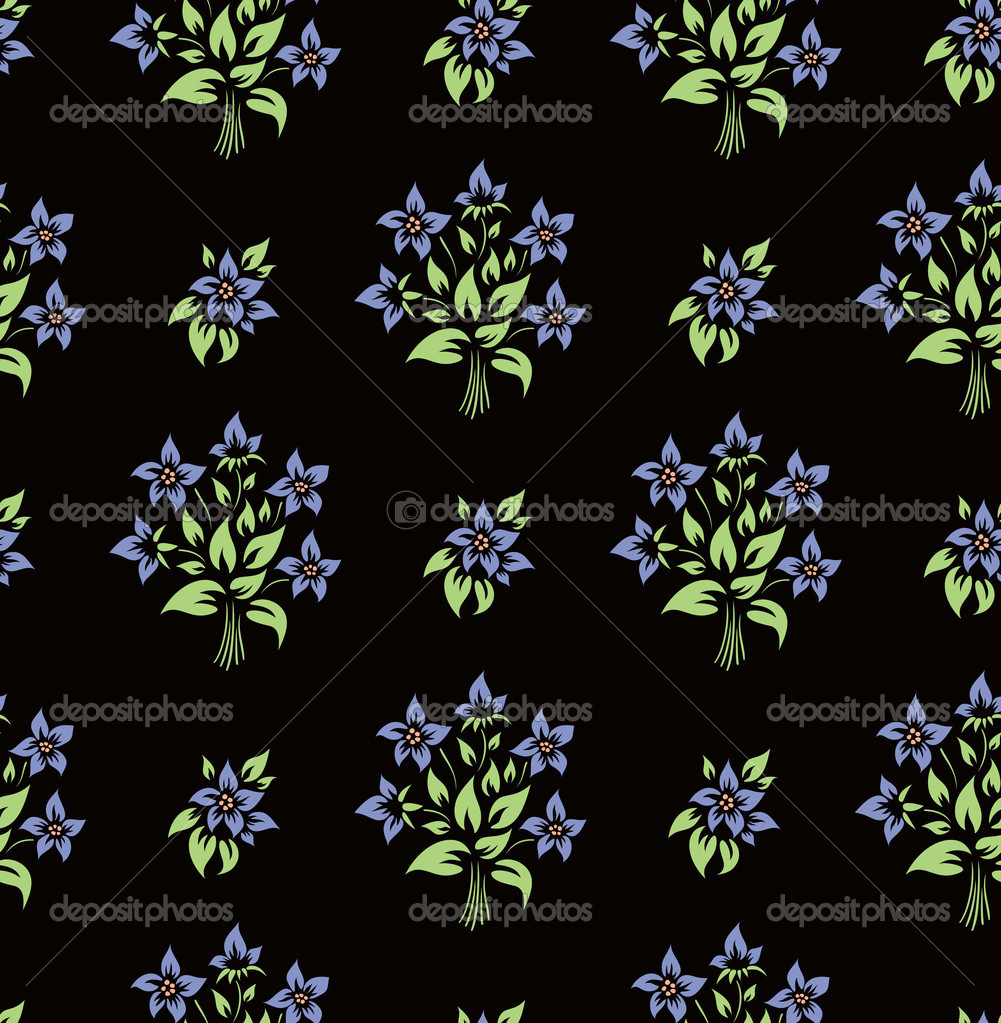 Seamless flower wallpaper  — Stock Vector #1217194