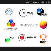 Küre style koleksiyonu — Stok Vektör