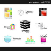 Box style collection — Vector de stock