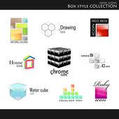 Coleção de estilo de caixa — Vetorial Stock