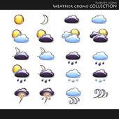 Collection style météo — Vecteur