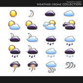 Weather style collection — Stock Vector