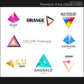 Triangle style collection — Stock Vector