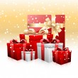 Stock Vector: Heaps of gifts