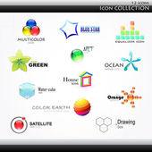 Ikoner collection — Stockvektor
