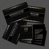 Biz card — Vettoriale Stock