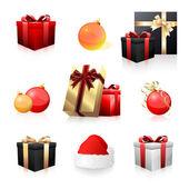 Collection d'icônes de vacances — Vecteur