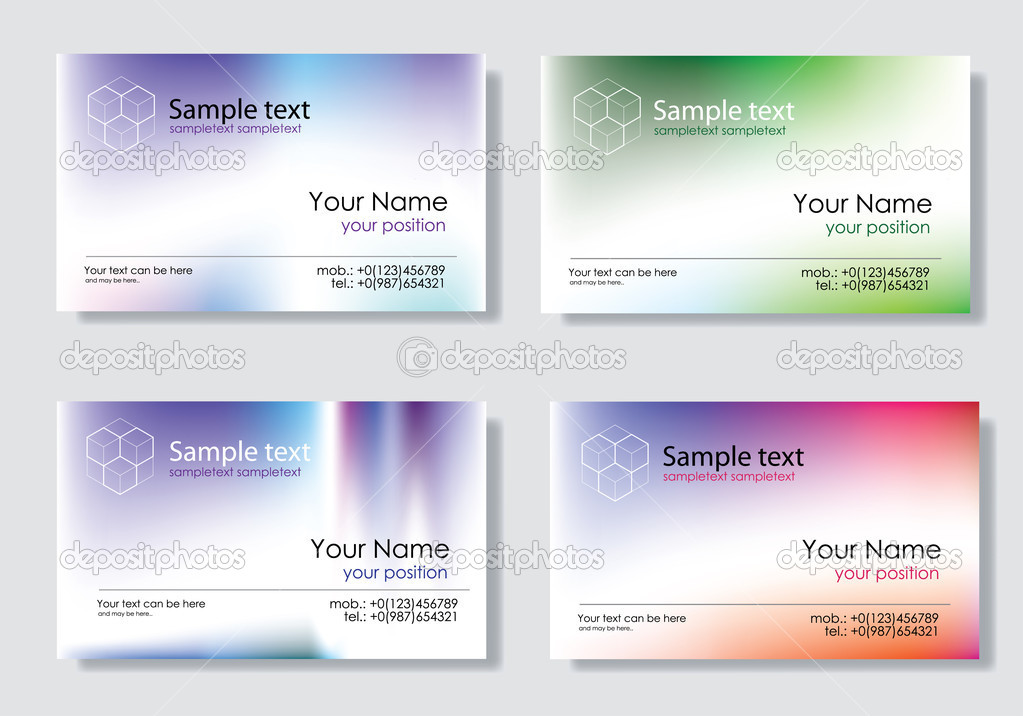 Business card set — Stock Vector #1736483