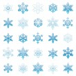 Snowflakes collection - Imagens vectoriais em stock