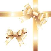 Golden holiday ribbon — Stock Vector