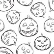 Halloween Seamless Black Background — Vector de stock