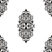 バロックのシームレスなパターン — ストックベクタ