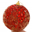 Stock Photo: Chrismas red bright ball.