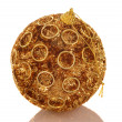 Stock Photo: Chrismas gold bright ball.