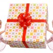 Royalty-Free Stock Photo: Couple of angel and gift box.