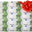 Holiday background of euro — Stock Photo
