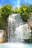 Cachoeira de montanha em malaysia rainfores — Foto Stock