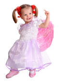 The girl in costume of angel. — Stock Photo