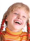 Portrait of laughing child. — Stock Photo