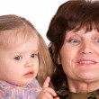 Portrait of grandmother and granddaughte — Stock Photo #1050506