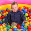 Royalty-Free Stock Photo: Birthday of fun boy in balls.