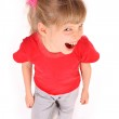 Child in red t-shirt shout. — Stock Photo #1050580