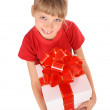 Girl with white gift box. — Stock Photo #1050601