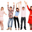 Cheerful group of young — Stock Photo #1057698