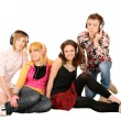 Royalty-Free Stock Photo: Group of in headphone.