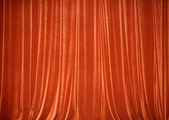 Background of red closed curtain. — Stock Photo