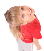 Portrait of girl in red t-shirt. — Stock Photo