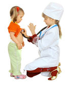 Children play doctor and nurse. — Stock Photo
