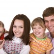 Happy family with two child. — Stock Photo