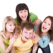 Cheerful group of young — Stock Photo #1334167