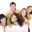 Group of take banner. - Stock Photo