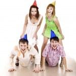 Group celebrate happy birthday. — Stock Photo