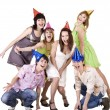 Royalty-Free Stock Photo: Group of teenagers celebrate birthday.