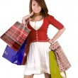 Stock Photo: Young girl with gift bag.