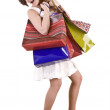 Shopping girl with group bag. — Stock Photo
