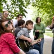 Group of on city. Music. — Stock Photo